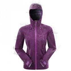 Veste pluie imperméable de randonnée Forclaz 400 Femme Prune