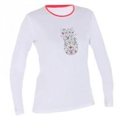 water tee shirt anti UV surf manches longues femme blanc fleur