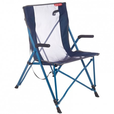 Fauteuil confort de camping / camp du randonneur bleu