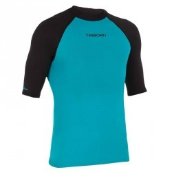 tee shirt anti uv surf top 100 manches courtes homme bleu noir