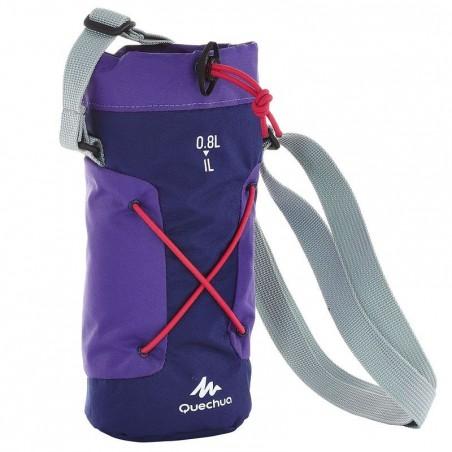 Housse isotherme pour gourde randonnée 0,75 - 1 litre violet