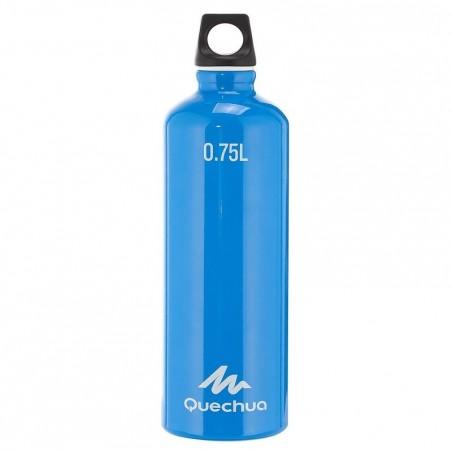 Gourde randonnée 100 bouchon à vis 0,75 litre aluminium bleu