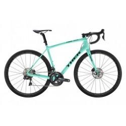 Vélo de Route Femme Trek Emonda SLR 7 Disc Shimano Ultegra Di2 11V 2019 Vert / Noir