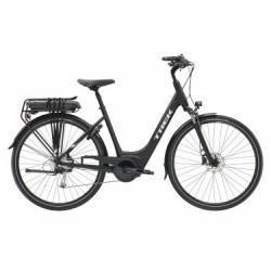 Vélo de Ville Électrique Trek TM2+ Lowstep 400W Shimano Alivio/Acera 9V Noir / Blanc 2019