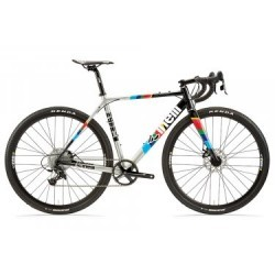 Gravel Bike Cinelli Zydeco Sram Apex 11V 2019 Noir / Argent / Multi-Couleur