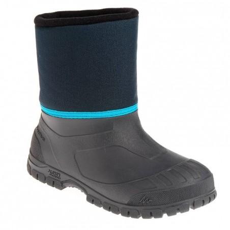 Bottes de randonnée neige Enfant SH100 chaudes et imperméables Blue