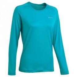 71a7fa4dbdf80 Tee-Shirt manches longues randonnée Techfresh 50 femme Bleu