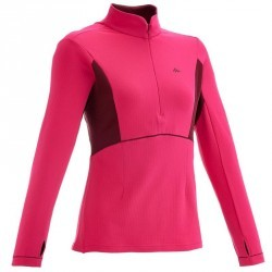 Tee-Shirt manches longues Forclaz 500 warm Rose