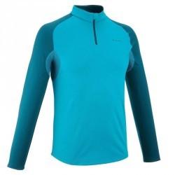 Tee Shirt manches longues Forclaz 100 warm M BLEU