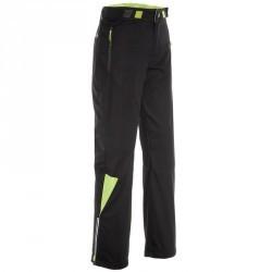 Pantalon ski de fond coupe vent junior noir