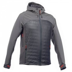 Veste trekking Windwarm 800 softshell Hybrid homme gris
