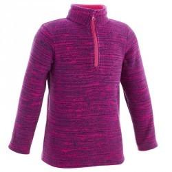 Polaire de randonnée Fille Hike 100 violet
