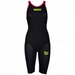 ARENA Carbon Flex VX Closed  Back  - Fluo Red - Combinaison Natation Femme dos fermé