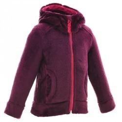 Veste polaire randonnée fille Hoodie WARM violet