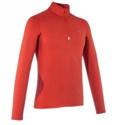 T Shirt Manches Longues Randonnée AirTECH 500 Homme Rouge