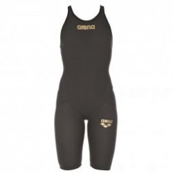 ARENA Carbon Flex VX  Open Back - Dark Grey Black - Combinaison Natation Femme dos ouvert