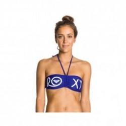 Haut Bikini separable Roxy SURF ESSENTIALS DRAWSTRING BANDEAU DEEP BLUE