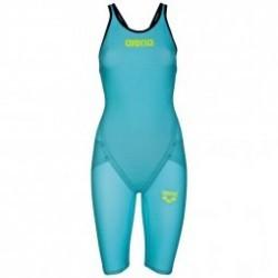 ARENA Carbon Flex VX Open Back  - Turquoise Black - Combinaison Natation Femme dos ouvert