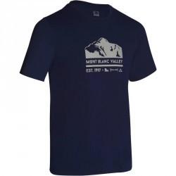 Tee-shirt manches courtes randonnée plaine homme Tech TIL 100 bleu marine