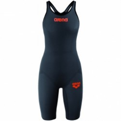 ARENA Carbon Pro Mark 2 CLOSED Dark Grey - Combinaison Natation Femme dos fermé