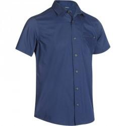 Chemise manches courtes Randonnée arpenaz 100 homme bleu