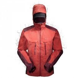 Veste pluie imperméable randonnée montagne homme Forclaz 900 Rouge