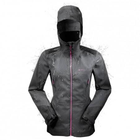 Veste pluie imperméable de randonnée Forclaz 900 Femme Noire