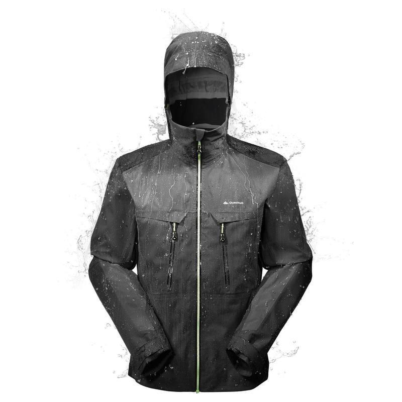 Noir Veste Montagne Homme 900 Avis Test Pluie Forclaz Randonnée Imperméable OXZwkTuPi