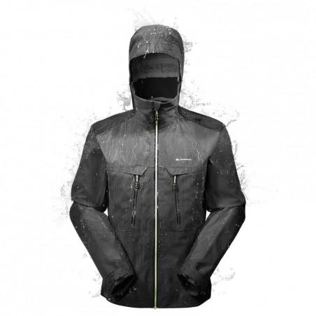 Veste pluie imperméable randonnée montagne homme Forclaz 900 Noir
