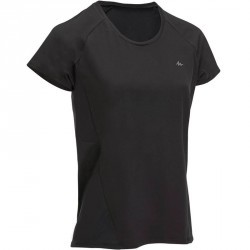 Tee-Shirt manches courtes randonnée Techfresh 100 femme noir