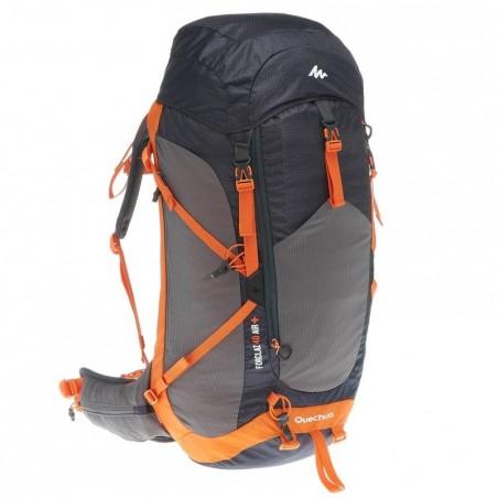 Sac à dos Forclaz 40 litres air + homme noir/orange