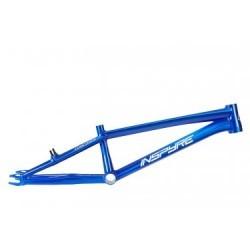 Cadre BMX Race Inspyre Concorde Brushed Raw Trans Blue / Bleu
