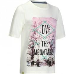 T-Shirt de randonnée fille Hike 500 blanc