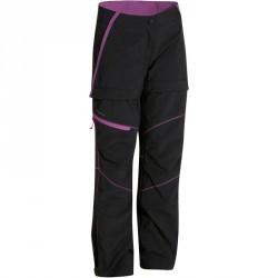 Pantalon de randonnée modulable fille Hike 900 noir