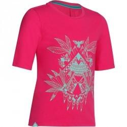 T-Shirt de randonnée fille Hike 500 rose