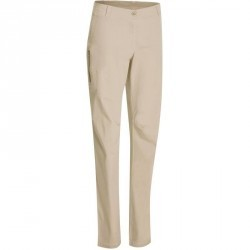 Pantalon randonnée nature femme Arpenaz 100 beige