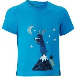T-Shirt de randonnée enfant garçon Hike 500 bleu