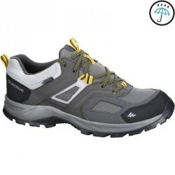 Chaussures de randonnée montagne homme Forclaz 100 imperméable Gris Ochre