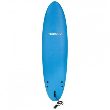 Planche de surf en mousse 100 7'. Livrée avec leash et ailerons.
