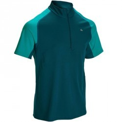 Tee Shirt Manches Courtes Randonnée Tech Fresh 100 homme Bleu