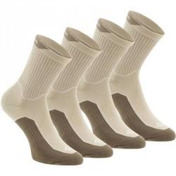 2 paires de chaussettes de randonnée nature tiges haute adulte Arpenaz 50 beige