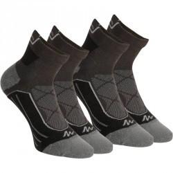 2 paires de chaussettes de randonnée montagne tige mid adulte Forclaz 900 bleu