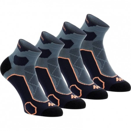 2 paires de chaussettes de randonnée montagne tiges mid adulte Forclaz 500 Bleu