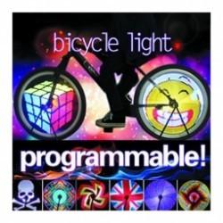 Eclairage programmable haute luminosité pour roue de vélo