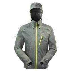 Veste pluie imperméable randonnée homme Forclaz 400 Gris Vert