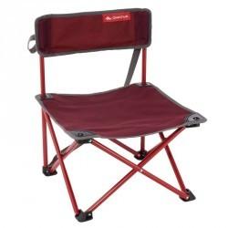Chaise basse de camping / camp du randonneur rouge