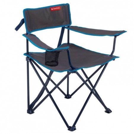 Fauteuil de camping pliant / camp du randonneur gris