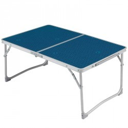 Table basse de camping / camp du randonneur bleue