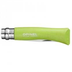 Couteau Opinel numéro 7 randonnée à bout rond vert