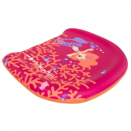 """Planche de natation rose à battements enfant avec imprimé """"sirène"""""""